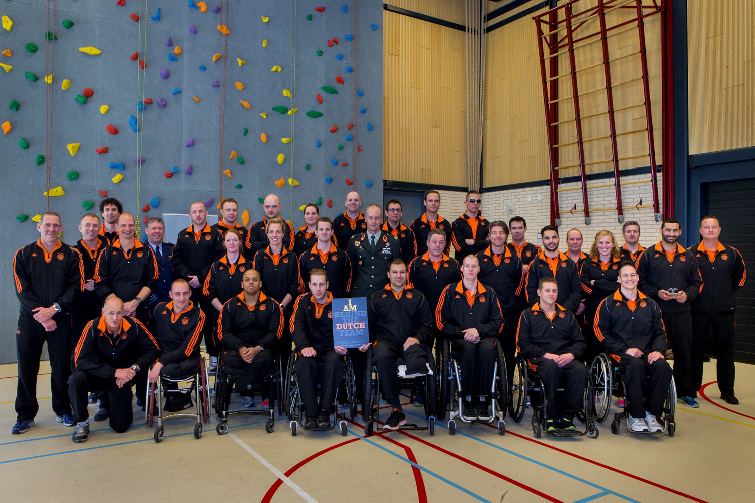 Dutch Invictus Team members show their strength during games