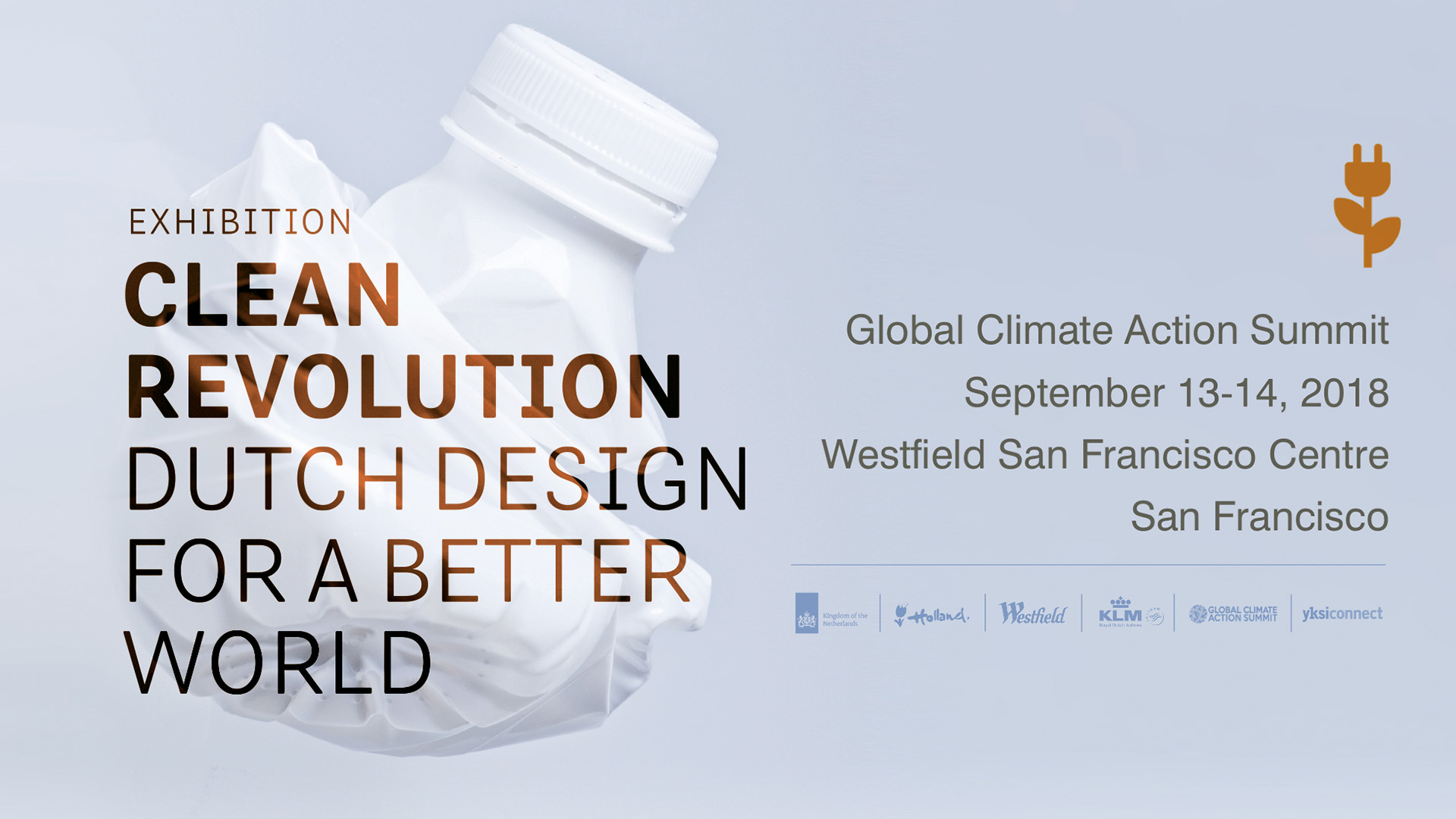 Global Climate Action Summit: Sustainable Dutch Design Expo