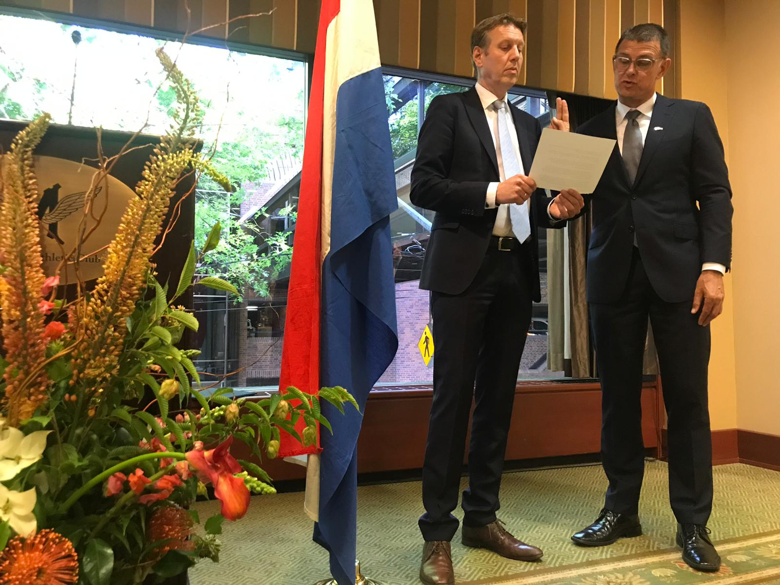 Van Hameren named honorary consul in Oregon