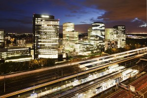 """The Zuidas (""""South Axis"""") is a large and rapidly developing business district in Amsterdam. Photo: Roel Backaert"""