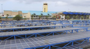 The Solar Park at the Reina Beatrix International Airport on Aruba.