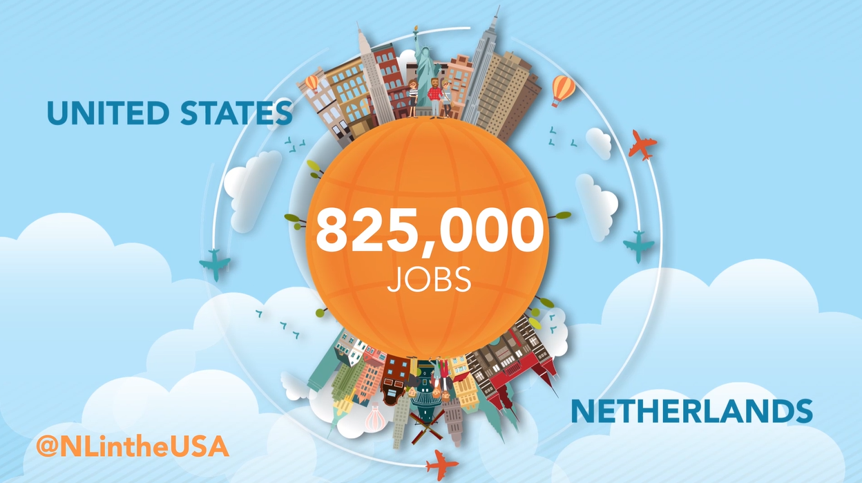 Trade and investment between the Netherlands and the US supports 825,000 American jobs
