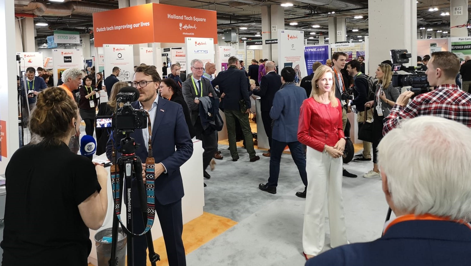 Constantijn van Oranje, Mona Keijzer open Holland Tech Square at CES