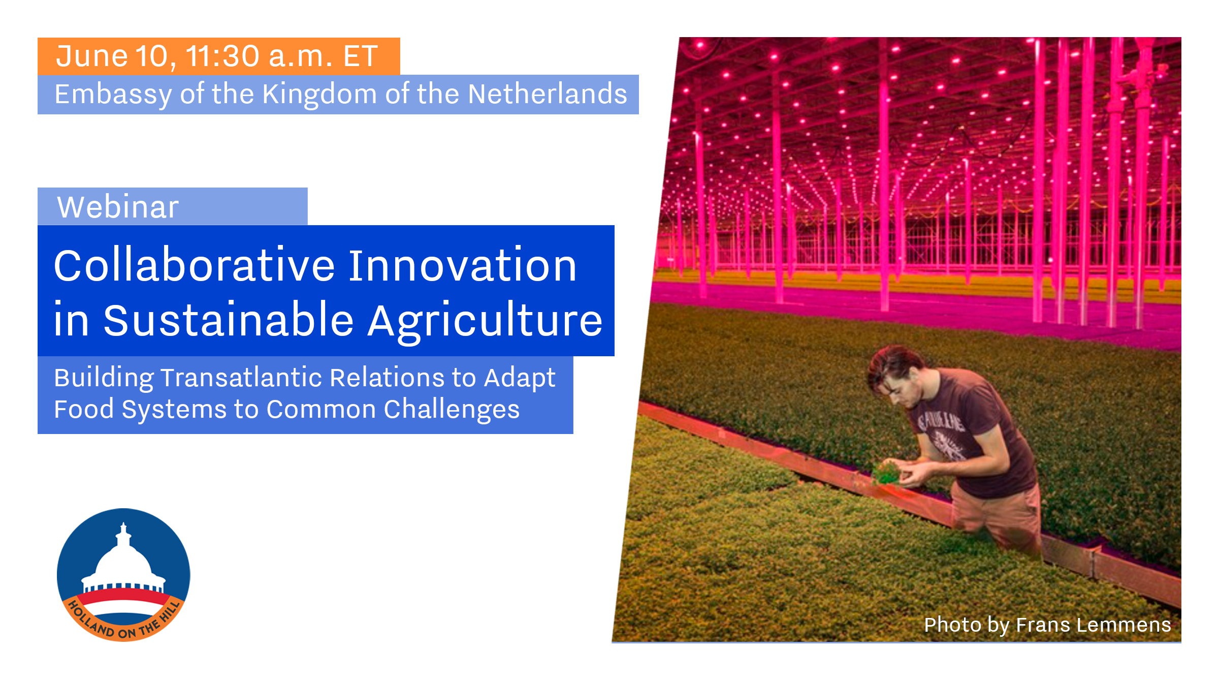 Sustainable agriculture webinar to explore collaborative innovation
