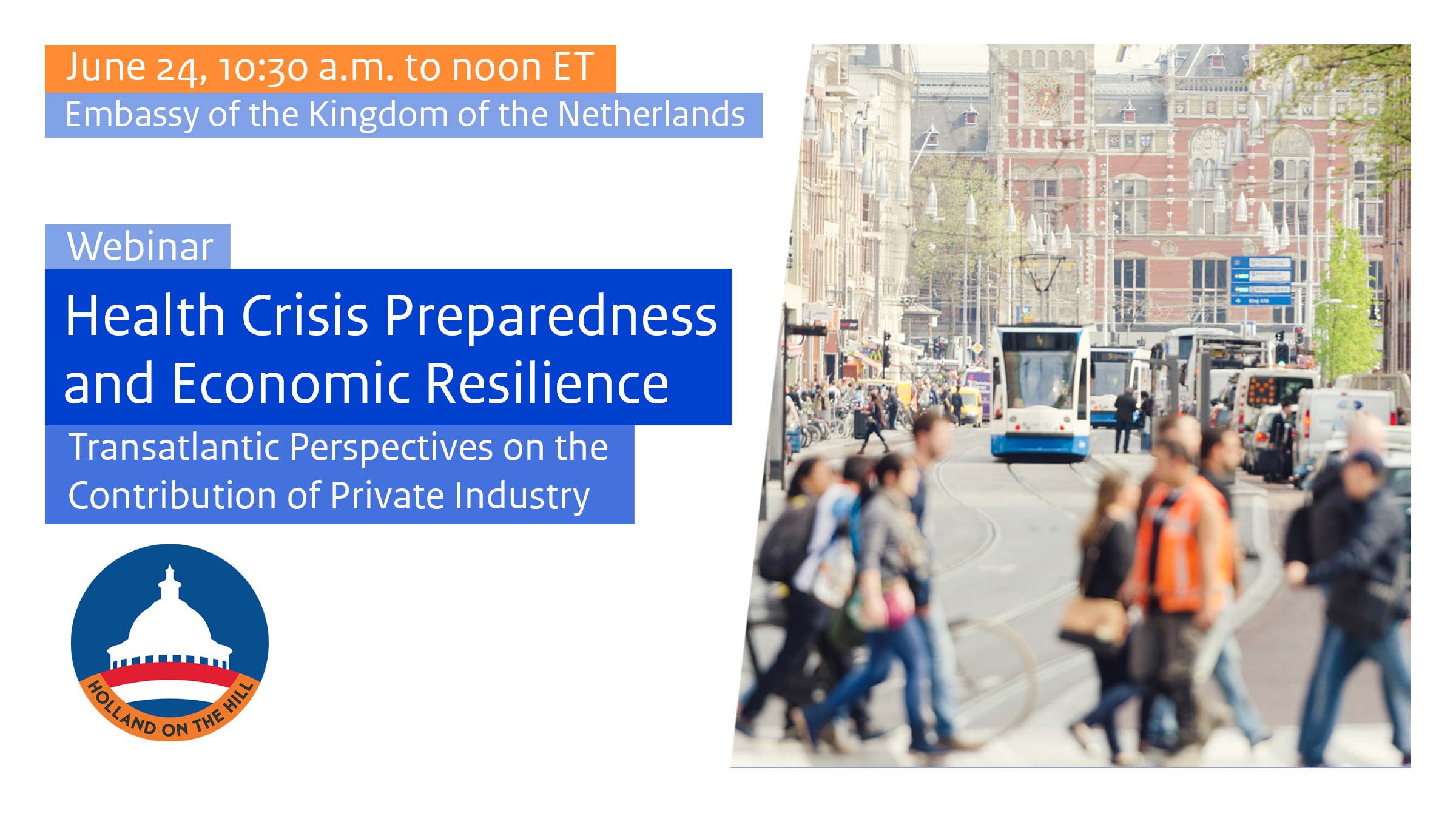 Webinar to focus on health crisis preparedness and economic resilience
